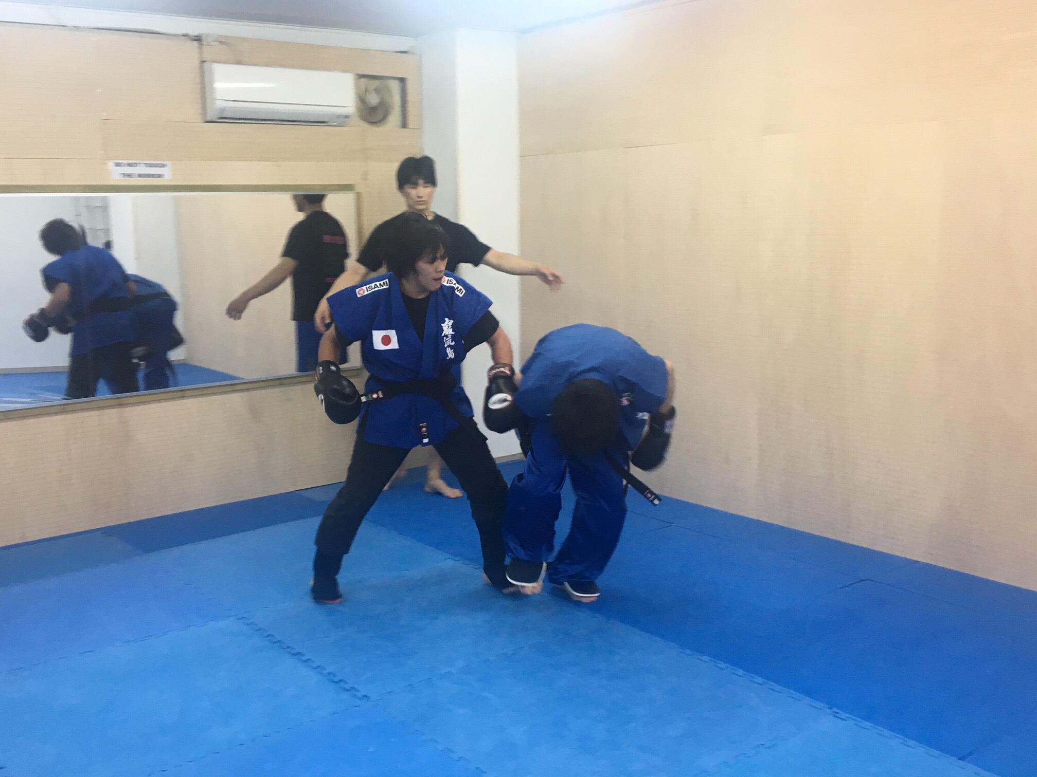 最後は竹内先生の八極拳秘伝技で初のKO負け
